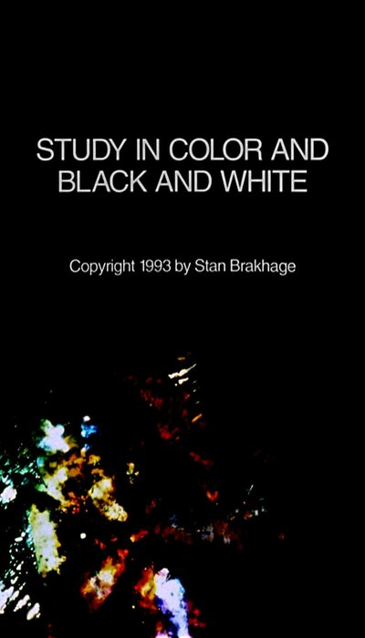 Study in Color and Black and White movie