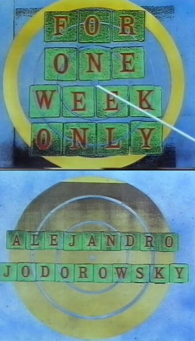 Jonathan Ross Presents for One Week Only: Alejandro Jodorowsky movie